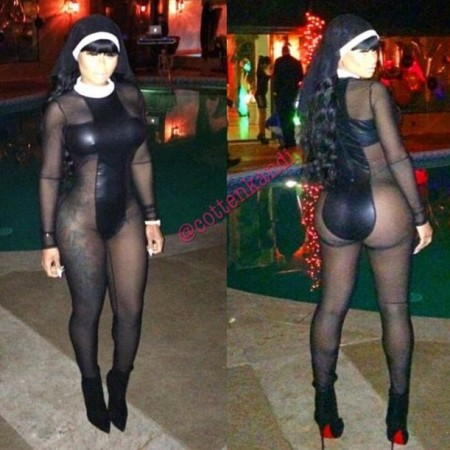 Milf halloween costume Blac Chyna Gets Naughty In Nun Costume